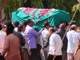 Safora massacre death toll rises to 44 as Ismaili community say their last goodbyes. PHOTO: AFP