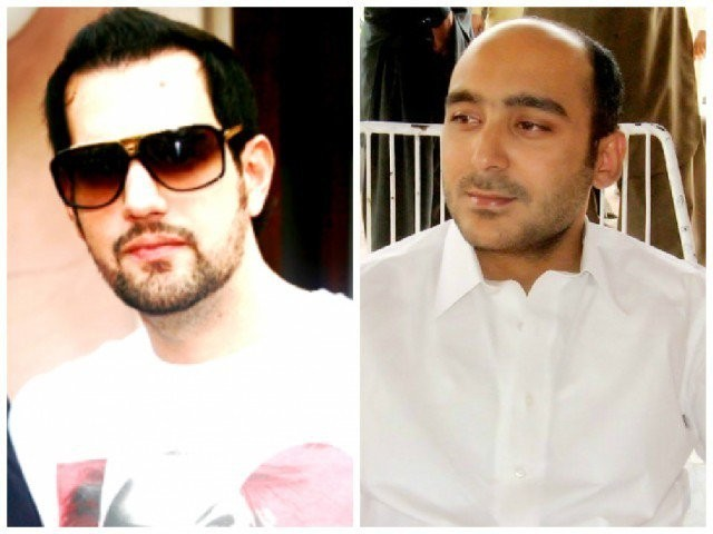 Shahbaz Taseer and Ali Gilani.  PHOTOS: TWITTER/AFP