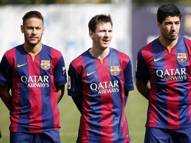 Neymar, Lionel Messi and Luis Suarez.  PHOTO: REUTERS