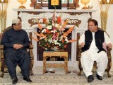 A file photo of PML-N Chief Nawaz Sharif and President Asif Ali Zardari's meeting. PHOTO: AFP