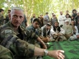 US forces meeting with Afghans. PHOTO: REUTERS