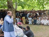 Prime Minister Nawaz Sharif addresses the people in Chitral on July 22, 2015/ PHOTO: PID