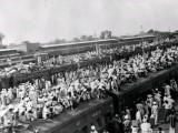 A picture taken in October, 1947 shows wagons packed with Muslin refugees fleeing to Pakistan by train in the border city of Amritsar, at the start of the first India-Pakistan war (October 1947-December 1948). PHOTO: AFP