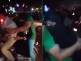 He attacks a lady sitting on a bike by grabbing her from behind, gyrating against her, and then continuing the abuse for a several more uncomfortable seconds.