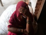 The mother of one of the gang-rape victim. PHOTO: AFP