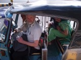 Jeremy Corbyn in a rickshaw in Karachi for the World Social Forum 2006. PHOTO: FOQIA KHAN