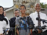 Irving police chief Larry Boyd insisted that the ethnicity of Ahmed Mohamed, pictured (C) with his family, had nothing to do with the response which saw him taken from school in cuffs. PHOTO: AFP
