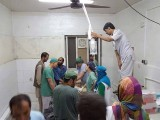 fghan staff react inside a Medecins Sans Frontieres (MSF) hospital after an air strike in the city of Kunduz, Afghanistan in this October 3, 2015. PHOTO: REUTERS