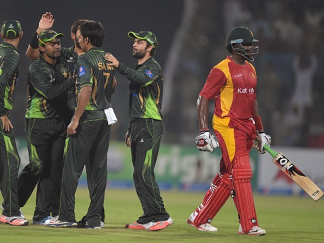 Pakistan won the first T20I by five wickets.  PHOTO: AFP