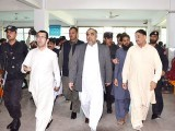 K-P Assembly Speaker, Asad Qaisar, arrived at the hospital with an official convoy which created many hurdles in the hospital's functionality. PHOTO: TWITTER/@AsadQaiserPTI