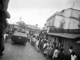 Date: December 12, 1971 Bengalis welcome Indian army tanks in the streets of Jessore. PHOTO: AFP