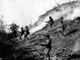 Dated: December 15, 1971 Indian army soldiers attacking Naya Chor, Sindh in support of Bengali rebels of the liberation army. PHOTO: AFP