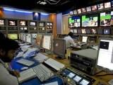 TV producers work at a control room of Geo News, a Dubai-based Pakistani. PHOTO: REUTERS