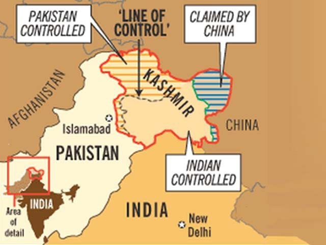Changing maps will not mean Kashmir is a part of you, India – The ...