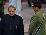 Pakistani Prime Minister Nawaz Sharif and army chief General Raheel Sharif, Islamabad, Pakistan. PHOTO: AFP