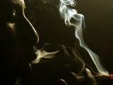 A heroin addict smokes heroin in Lamu November 21, 2014. PHOTO: REUTERS