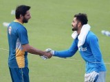 So we hear that Virat Kohli and the Indian cricket team gifted Shahid Afridi a jersey as a farewell gift on his retirement. PHOTO: AFP