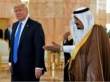 US President Donald Trump (L) and Saudi Arabia's King Salman bin Abdulaziz al-Saud. PHOTO:AFP