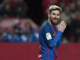 Barcelona's Argentinian forward Lionel Messi looks on during the Spanish league football match Sevilla FC vs FC Barcelona. PHOTO: AFP