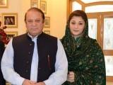 Prime Minister Nawaz Sharif with his daughter Maryam Nawaz. PHOTO: ONLINE