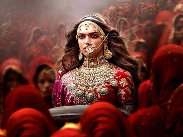 Padmavati, starring Deepika Padukone, Ranveer Singh and Shahid Kapoor in the lead roles, and directed by Sanjay Leela Bhansali, is based on a 16th century Sufi epic poem, Padmavat. PHOTO: TWITTER/SUMIT KADEL