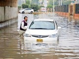 With infrastructure that is crumbling, along with a lack of ownership by the citizens, Karachi will surely descend into utter chaos if it rains heavily. PHOTO: PPI