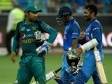 Pakistan Captain Sarfraz Ahmed (L) leaves the field followed by India´s Dinesh Karthik (R) and Ambati Rayudu (C) at the end of the ODI Asia Cup cricket match between Pakistan and India in Dubai on September 19, 2018. PHOTO: AFP