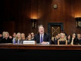 Supreme Court nominee Brett Kavanaugh testifies before a Senate Judiciary Committee confirmation hearing on Capitol Hill in Washington, Sept. 27, 2018. PHOTO: REUTERS