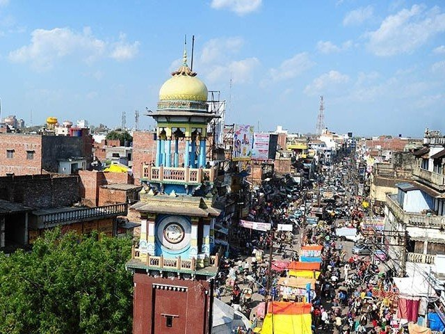A famous clock tower located in the middle of the old city in Allahabad on Mar 4, 2015. PHOTO: AFP