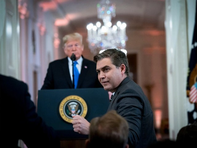 Jim Acosta of CNN during a contentious news conference at the White House on Nov. 7. PHOTO: THE NEW YORK TIMES
