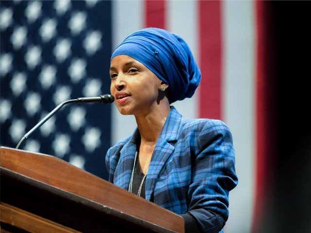 Ilhan Omar speaks at a Hillary for Minnesota event at the University of Minnesota in October 2016. PHOTO: FLICKR/ LORIE SHAULL
