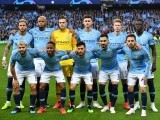 Manchester City's players pose before the Champions League quarter-final second leg match against Tottenham Hotspur at the Etihad Stadium in Manchester, on April 17, 2019. PHOTO: AFP
