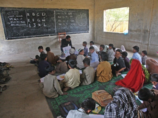 An estimated 52% of children in Sindh are still out of school. PHOTO: FILE
