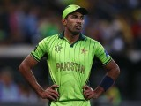 Wahab Riaz of Pakistan looks dejected during the 2015 ICC Cricket World Cup match between Australian and Pakistan. PHOTO: GETTY