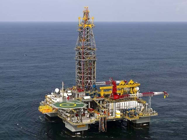 This marks Pakistan's 18th attempt at trying to find oil in the deep sea. PHOTO: AFP