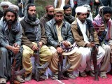 Militants from the banned organisation Balochistan Liberation Army and United Balochistan Army. PHOTO: GETTY
