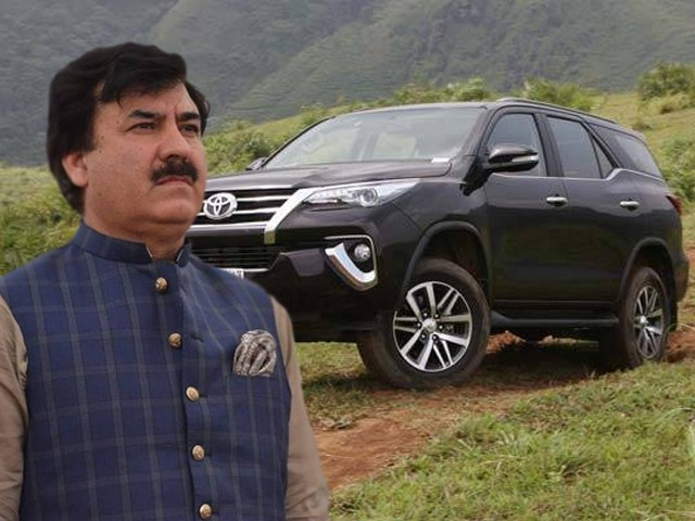 Shaukat Ali Yousafzai, a PTI minister in K-P, has been given a luxury vehicle worth Rs8 million of 2800cc when ministers are allowed 1800cc cars.