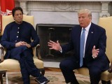 Donald Trump meets with Imran Khan in the Oval Office. PHOTO: GETTY
