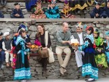 Prince William, Duke of Cambridge and Catherine, Duchess of Cambridge visit a settlement of the Kalash people. PHOTO: AFP