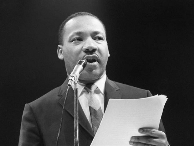 Martin Luther King Jr during a speech. PHOTO AFP
